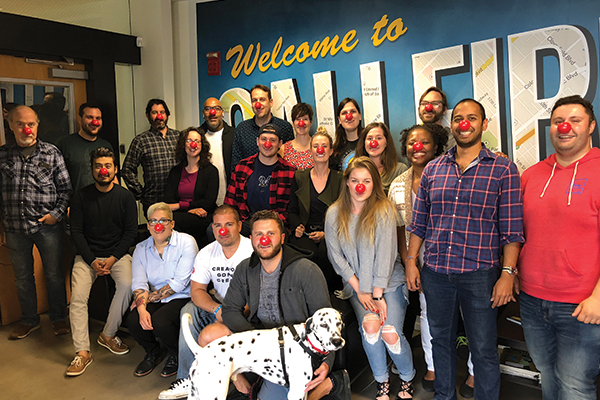 EZ Texting Celebrates Red Nose Day Santa Monica Office