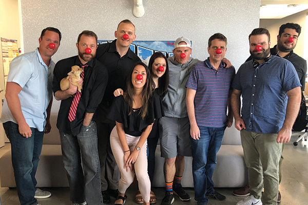 EZ Texting Celebrates Red Nose Day Austin Office