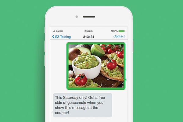 text marketing for cinco de mayo promotion example