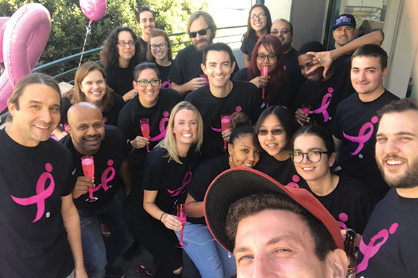 EZ Texting team supports breast cancer awareness