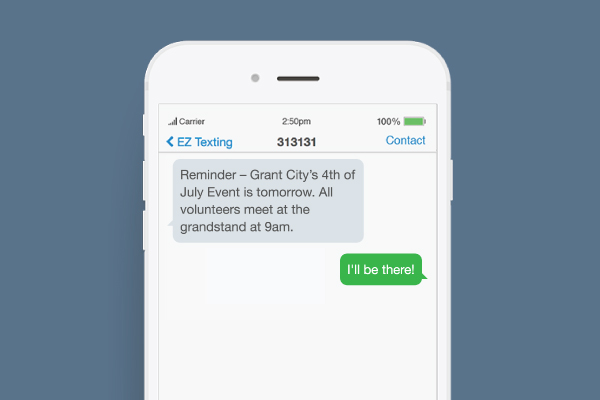 bulk texting for 4th of July notifications example