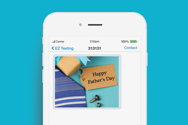 fathers day text promotions mms template example
