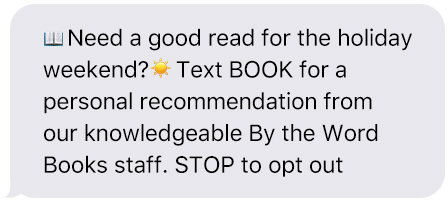 Recommendation Text Message